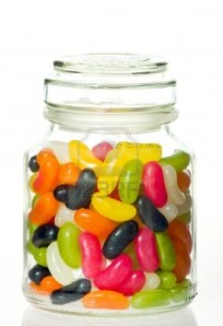 11872402-jellybeans-in-a-glass-jar-with-white-background